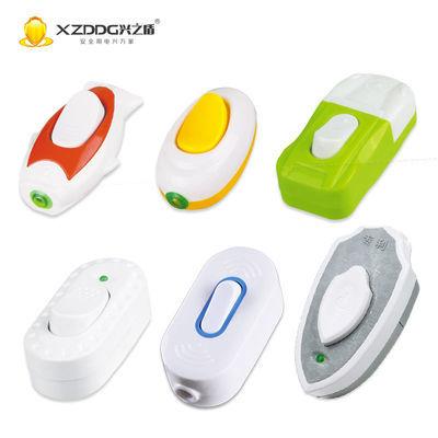 【5-20只】大功率床头开关线控按钮开关电床头台灯LED手捏开关主图