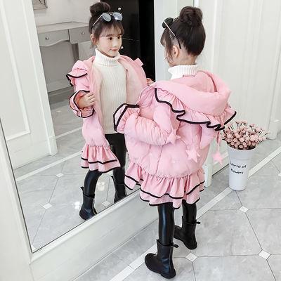 女童棉服洋气中长款外套秋冬款中大儿童小女孩棉衣冬季棉袄保暖衣
