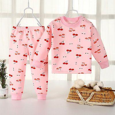 儿童保暖套装加绒加厚男童女宝纯棉秋冬季婴儿宝宝内衣保暖内衣裤