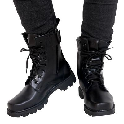 正品军靴 男特种兵作战靴 钢头钢底马丁靴 男士透气高帮靴子男靴