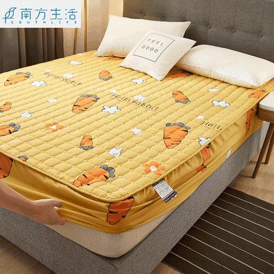 南方生活防滑床笠床套防尘罩加厚夹棉床罩单件席梦思床垫保护套