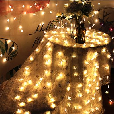 led星星灯网红彩灯小夜灯串闪少女心布置房间装饰灯圣诞节装饰品