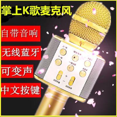 WS858 无线麦克风 全民K歌话筒 手机 K歌神器麦克风 蓝牙变声话筒