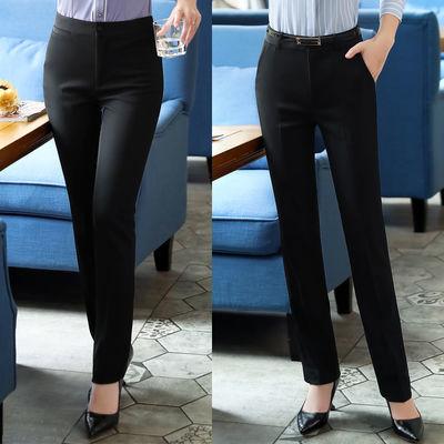 九分西裤女小个子2020夏季新款口袋工装裤子职业黑色直筒薄款长裤