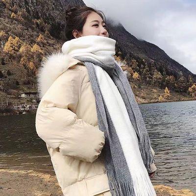 围巾女冬季韩版百搭男女学生加厚披肩情侣款秋冬毛线针织少女围脖