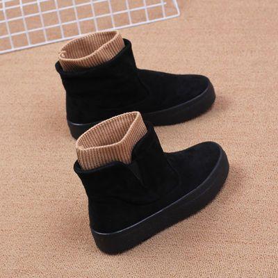 雪地靴女人本冬季新款加绒棉鞋女高帮防滑加厚保暖短靴女厚底冬靴主图