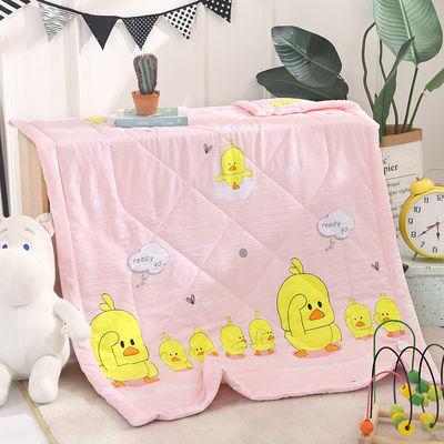 儿童空调被春秋被夏凉被手工宽包边小被子卡通幼儿园午睡薄被褥子
