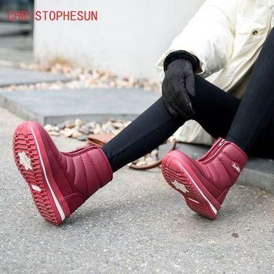 2020新款雪地靴时尚防滑防水棉靴女款东北加绒加厚平底东北雪地鞋