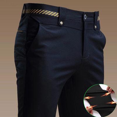 秋季新款弹力休闲裤男修身直筒裤男士商务西裤男装韩版长裤子男裤