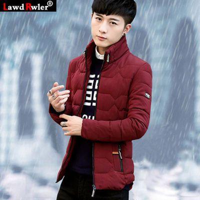 男士加厚棉衣立领青年羽绒棉服修身棉袄短款男装外套学生冬装袄子