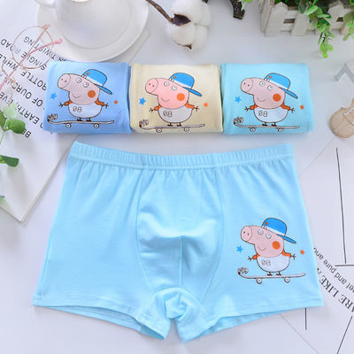 纯棉4条亏本包邮童裤男女童卡通儿童小学生小中大童四角短裤内裤