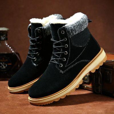 【加绒加厚】雪地靴男冬季高帮保暖棉鞋青年百搭保暖棉靴男士短靴