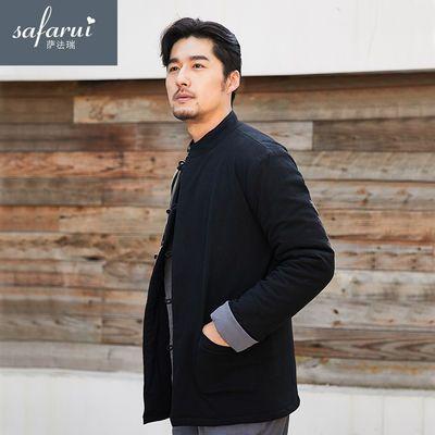 冬季唐装棉袄男青年中国风棉衣男外套加厚中式复古棉服短款男装