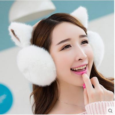 耳罩保暖女学生可爱韩版冬季护耳捂时尚毛绒耳套女猫耳朵秋冬卡通