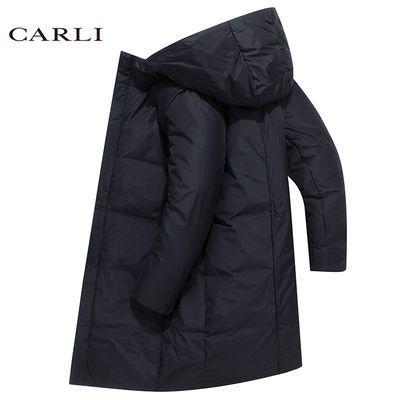 CARLI卡拉利冬季男士棉衣长款加厚韩版修身男士棉服棉袄外套男潮主图