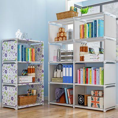 大容量书架简易桌上学生置物架索尔诺创意组合书柜落地儿童收纳架