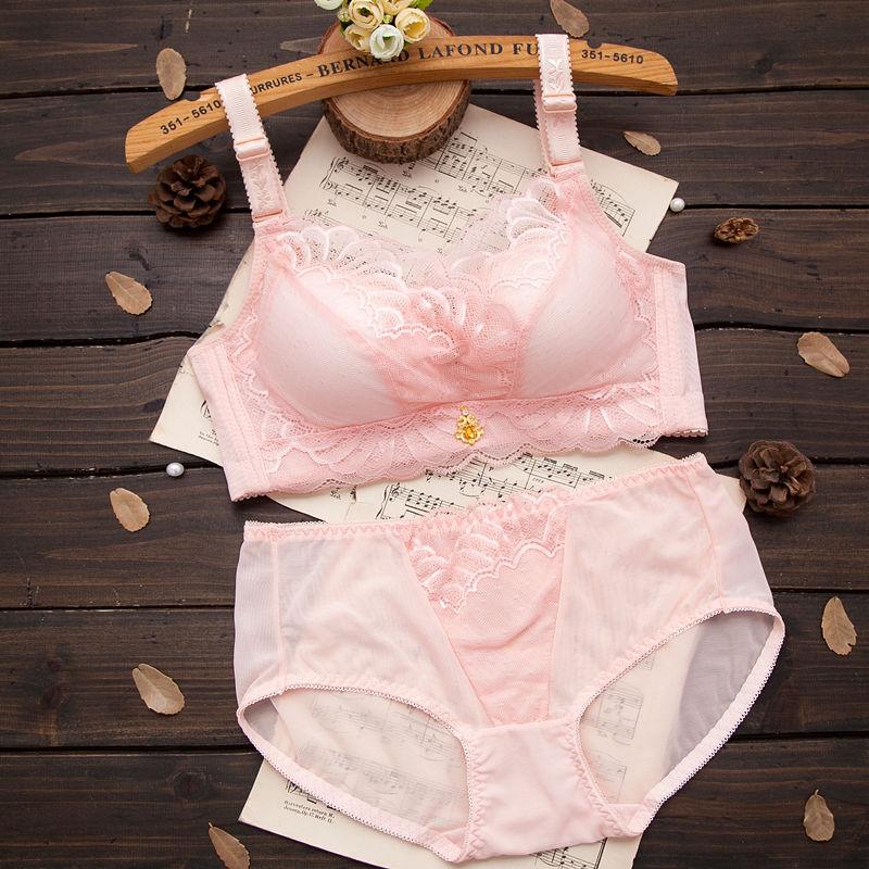 舒适无钢圈胸罩小胸加厚文胸调整型内衣女聚拢薄款大码收副乳秋冬