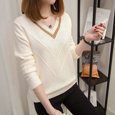 秋冬季新款女装毛衣针织衫套头短款韩版宽松学生打底衫长袖上衣女
