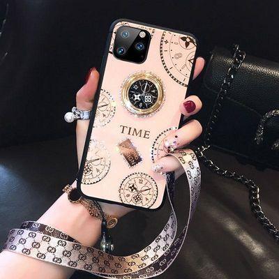 苹果11手机壳女带钻iPhone11pro挂绳指环扣抖音同款iphone11proma
