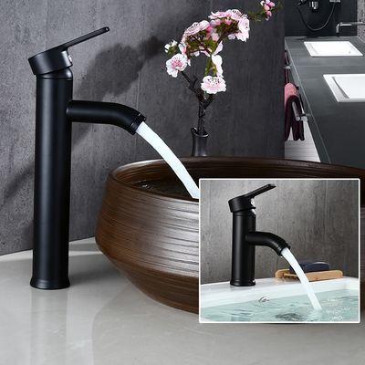 黑色不锈钢台上盆面盆水龙头 欧式卫生间洗脸盆台下盆冷热龙头
