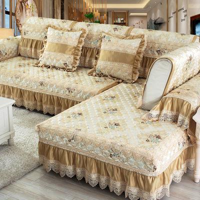 欧式沙发垫四季通用布艺简约现代全包客厅沙发套罩防滑123组合U型