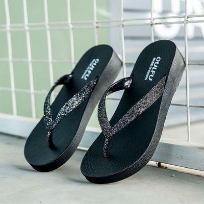 人字拖鞋女外穿时尚夹脚百搭纯色度假沙滩鞋休闲韩版休闲学生凉拖