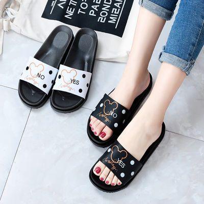 夏季新款拖鞋女夏外穿学生韩版家用ins风网红女鞋居家加厚底防滑