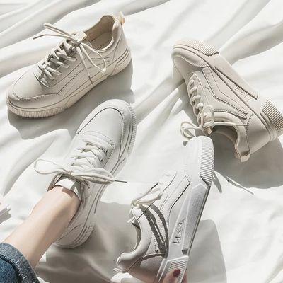 小白鞋女学生韩版百搭平底单鞋2019新款女鞋原宿风板鞋女休闲潮鞋