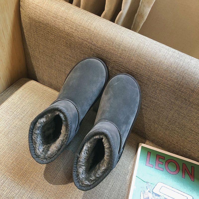 雪地靴加厚棉鞋女保暖加绒新款学生鞋短筒百搭韩版平底鞋