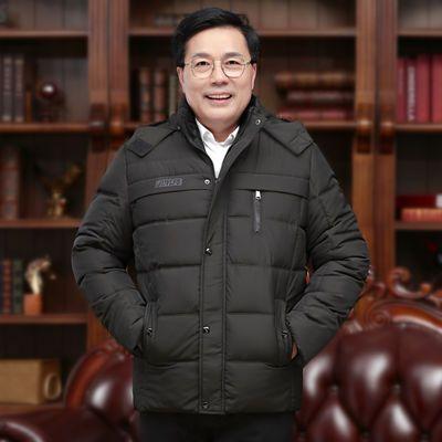 冬季羽绒棉服男外套男中老年男装爸爸装冬装外套男棉服棉袄棉衣男