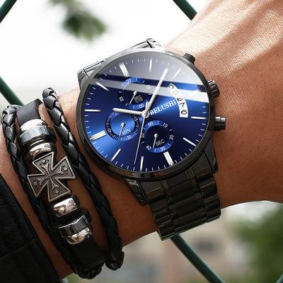 男士手表防水多功能手表时尚夜光石英表男学生韩版运动腕表商务表