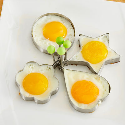 senseyo个性煎鸡蛋模具创意爱心形荷包蛋套装304不锈钢煎蛋器模型