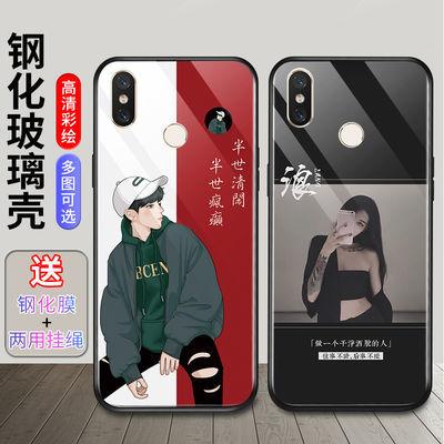 小米8手机壳男新款玻璃网红小米8探索版保护壳小米8se个性xm8青春