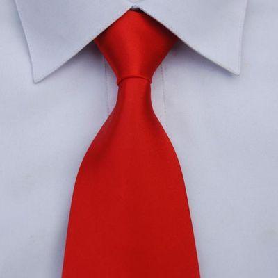纯色方便拉链懒人一拉得男士商务正装黑大红酒红色毕业大合唱领带