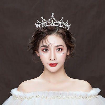新娘头饰皇冠森系网红大气婚纱婚礼白纱结婚成人生日公主王冠1034