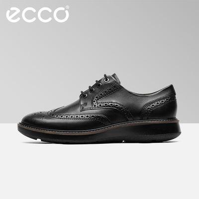 春夏ECCO爱步商务正装男鞋新款时尚拷花精致男士皮鞋 拉夏600824