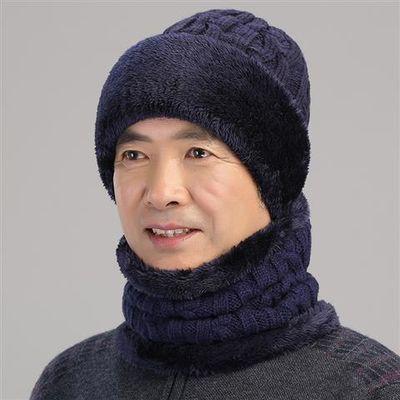 帽子男冬季中老年保暖护耳羊毛帽爸爸帽冬天加厚老人帽爷爷老头帽