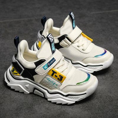 童鞋男秋冬款中大童鞋子男童棉鞋加绒儿童运动鞋小学生男孩休闲鞋