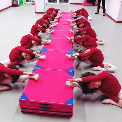 舞蹈垫子儿童练功垫加厚折叠体操垫仰卧起坐垫子海绵垫子健身垫子