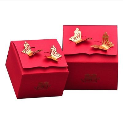 50个装喜糖盒子结婚用品欧式喜糖礼盒回礼糖果袋中式流苏喜糖盒