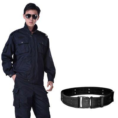 户外黑色作训服男长袖迷彩服保安工作服套装男女耐磨工装治安制服