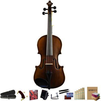 仿古哑光红棉小提琴初学者儿童成人考级演奏手工小提琴琴V006