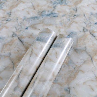 防水仿大理石纹自粘墙纸壁纸家具翻新贴纸浴室墙贴厨房防油贴纸