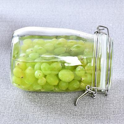 卡扣密封罐玻璃带盖罐子食品杂粮茶叶储物罐透明加厚防潮奶粉家用