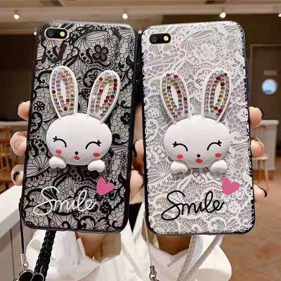 OPPOA5手机壳女白蕾丝A9黑磨砂保护套兔子支架A3磨砂软边潮学生壳