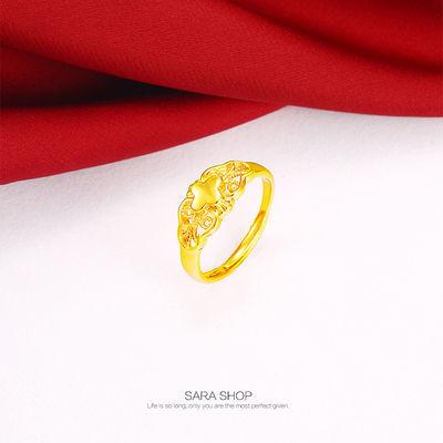 【多款可选】开口镀黄金戒指指环男女款情侣戒指韩版学生闺蜜手饰