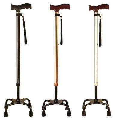 老人四脚拐杖老年人的四角手杖伸缩防滑拐棍儿轻便4爪大四脚捌杖