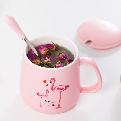 创意陶瓷杯子简约马克杯带盖勺水杯情侣咖啡杯牛奶早餐杯茶杯定制