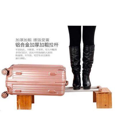 新款【今日特价】全配色铝框行李箱拉杆箱旅行箱男登机箱密码箱男