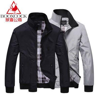 男士外套新款秋冬季韩版潮流上衣男宽松棒球服加绒加厚夹克男装